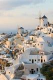 Santorini海岛的,希腊Oia村庄 图库摄影