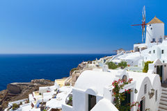 Santorini海岛结构在希腊 免版税库存照片