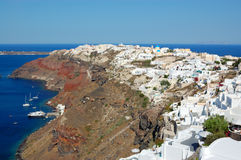 Santorini海岛Oia视图 免版税库存照片