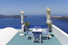 Santorini海运视图 库存照片