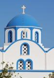 Santorini的教会,希腊 免版税图库摄影