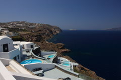 santorini美丽的景色 免版税图库摄影