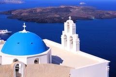 Santorini视图,希腊 免版税库存图片