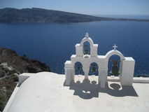Santorini视图 库存图片