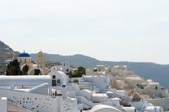 Santorini视图 图库摄影