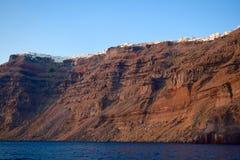 Santorini är en del av den Cycladic gruppen av öar, Grekland arkivfoton