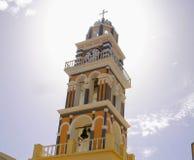 Santorini, één van het meest bezochte Eiland Griekenland stock fotografie