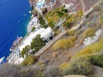 Santorini, één van het meest bezochte Eiland Griekenland royalty-vrije stock foto's