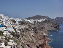 santorini της Ελλάδας oia Santorini - ένα από τα επισκεμμένα μέρη στην Ελλάδα στοκ φωτογραφίες