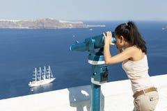 Santorini ö i Grekland Fotografering för Bildbyråer