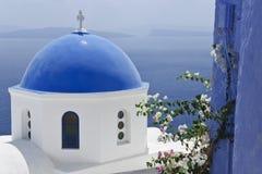 Santorini άσπρος και μπλε Στοκ Εικόνες