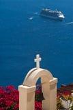 santorini κρουαζιέρας Στοκ Φωτογραφία