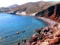 Santorini - κόκκινη παραλία Στοκ φωτογραφία με δικαίωμα ελεύθερης χρήσης