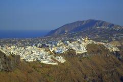Santorini κύριο Thira Στοκ Φωτογραφία