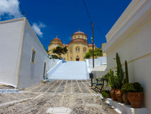 santorini νησιών εκκλησιών Στοκ φωτογραφίες με δικαίωμα ελεύθερης χρήσης
