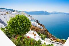 santorini νησιών λόφων της Ελλάδας κτηρίων Στοκ Εικόνα