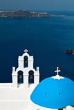 santorini νησιών της Ελλάδας εκκλησιών Στοκ Εικόνα
