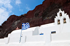 santorini νησιών της Ελλάδας εκκλησιών Στοκ φωτογραφία με δικαίωμα ελεύθερης χρήσης