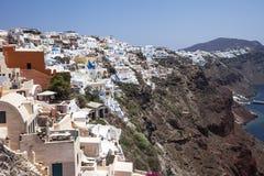 santorini νησιών λόφων της Ελλάδας κτηρίων Στοκ εικόνες με δικαίωμα ελεύθερης χρήσης