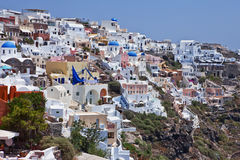 santorini νησιών λόφων της Ελλάδας κτηρίων Στοκ εικόνα με δικαίωμα ελεύθερης χρήσης