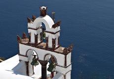 santorini Греции колокольни Стоковая Фотография