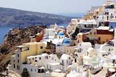 Santorini Греция стоковое фото