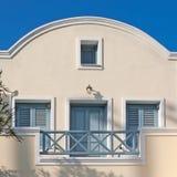 santorini дома гостиницы Стоковая Фотография