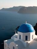 santorini острова Греции церков Стоковые Фото