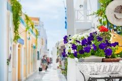 santorini острова холма Греции зданий Перемещение и каникула Стоковое Изображение
