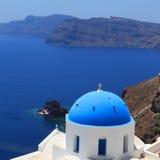 santorini острова холма Греции зданий Стоковое фото RF