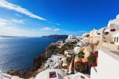 santorini острова холма Греции зданий Стоковая Фотография RF