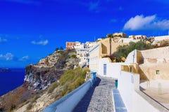 santorini острова холма Греции зданий Стоковые Изображения RF