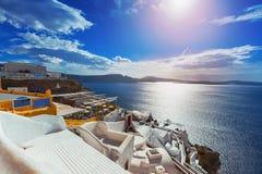 santorini острова холма Греции зданий Стоковое Изображение RF