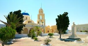 santorini острова церков греческое Стоковое фото RF
