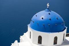 santorini острова церков колоколов Стоковая Фотография