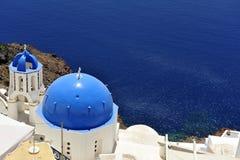 santorini острова церков колоколов Стоковые Изображения