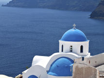 santorini острова церков традиционное Стоковое Изображение