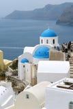 santorini острова церков Стоковые Изображения RF