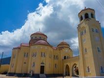 santorini острова церков Стоковые Изображения