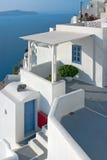 santorini патио Греции Стоковые Изображения RF
