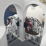 Santorini цветет романтичный остров Греция Стоковое Фото
