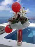 Santorini цветет романтичный остров Греция Стоковое Изображение