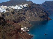Santorini破火山口 图库摄影
