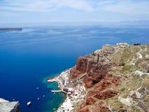 Santorini破火山口 免版税库存图片