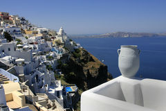 Santorini. A different perspective of Santorini island, Cyclades, Greece Royalty Free Stock Images