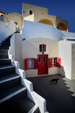 Santorini. Photo of appartment  in Oia Santorini Stock Photo