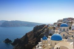 Santorini 2. Oya city at Santorini on the Greek Islands Royalty Free Stock Images