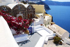 Santorini. The special architecture on Santorini island, Greece royalty free stock images