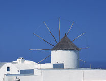 Santorini. Windmill, Santorini island, Cyclades, Greece royalty free stock photo