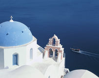 Santorini. Scenic destination Santorini island, Cyclades, Greece stock photo